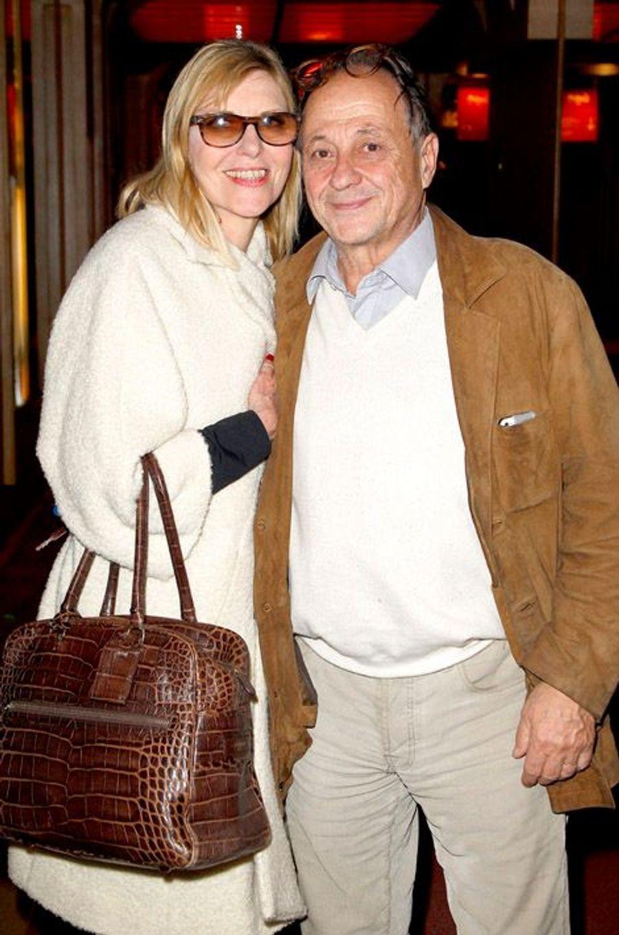 Chantal Ladesou et son mari, Michel, au musée Grévin le dimanche 12 octobre 2014