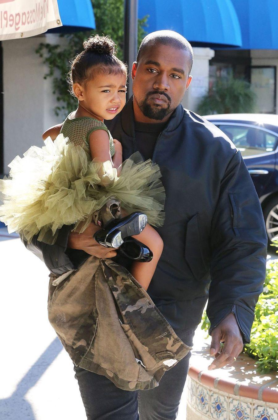 Kanye West avec sa fille North