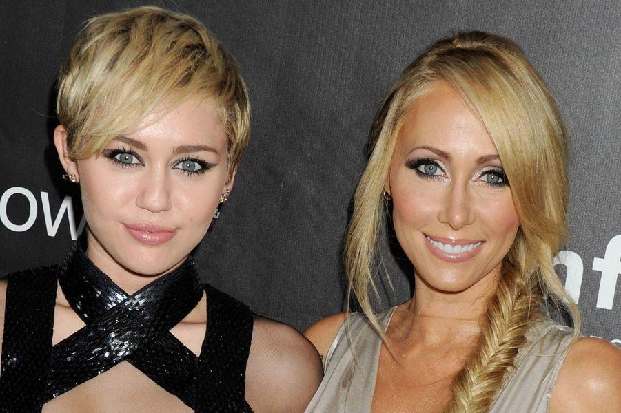 Miley Cyrus avec sa maman
