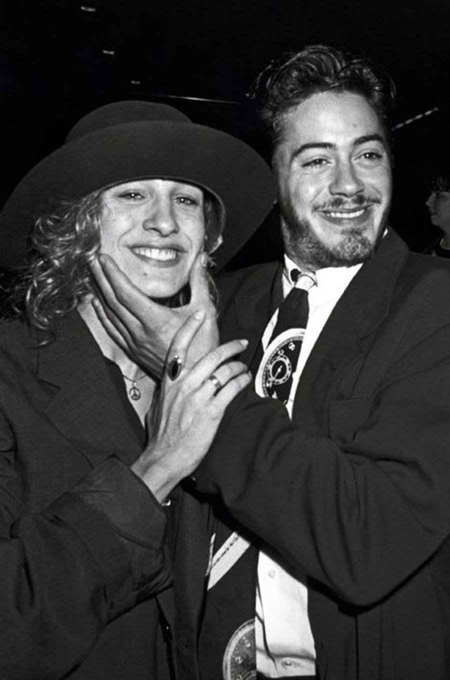 Sarah Jessica Parker et Robert Downey Jr. en 1987