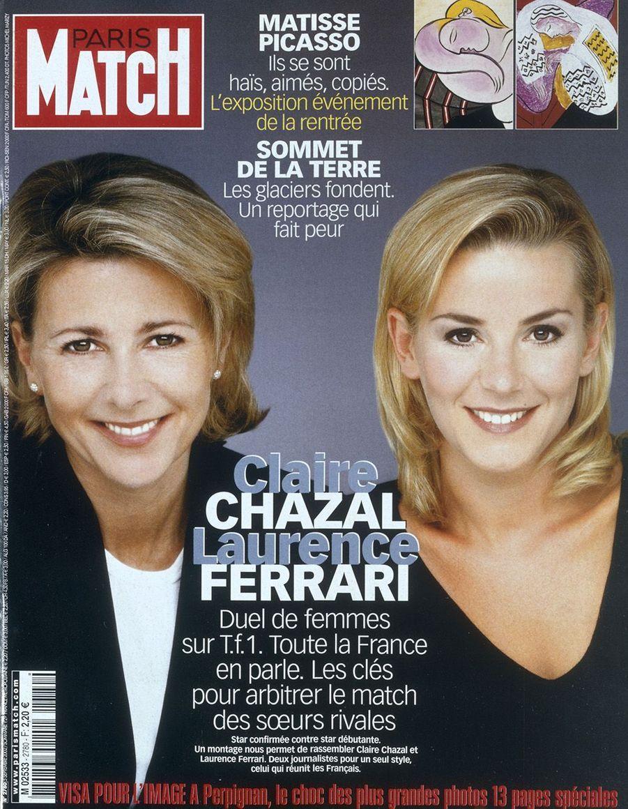 Claire Chazal, son histoire avec Match