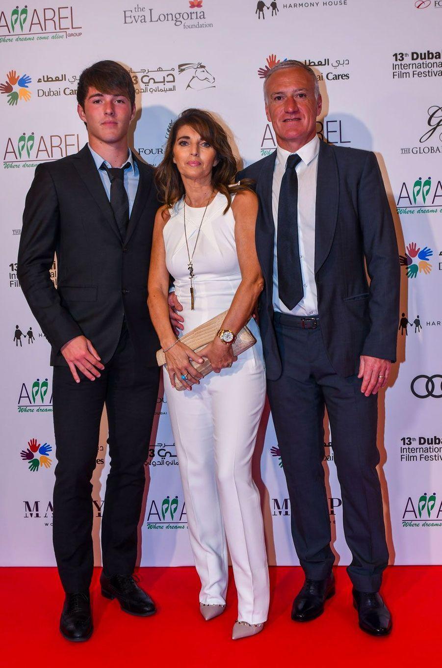 Didier et Claude Deschamps avec leur fils Dylan