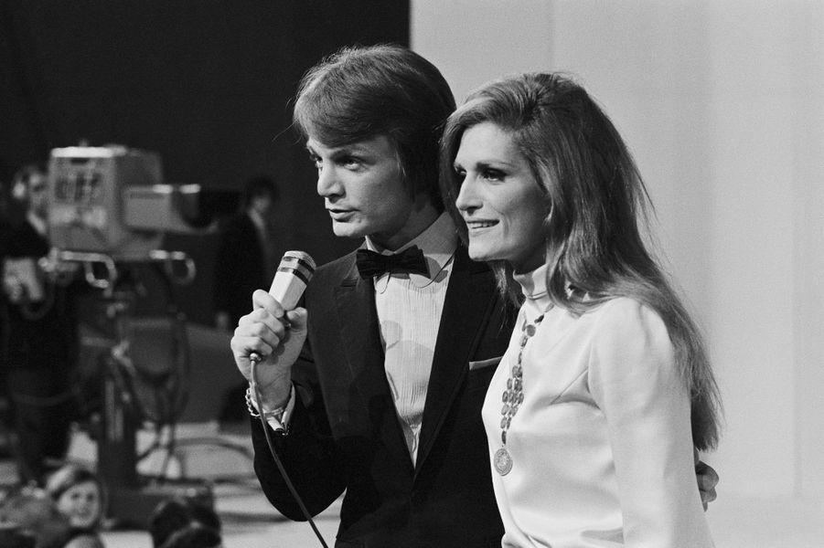 Claude François et Dalida en 1968