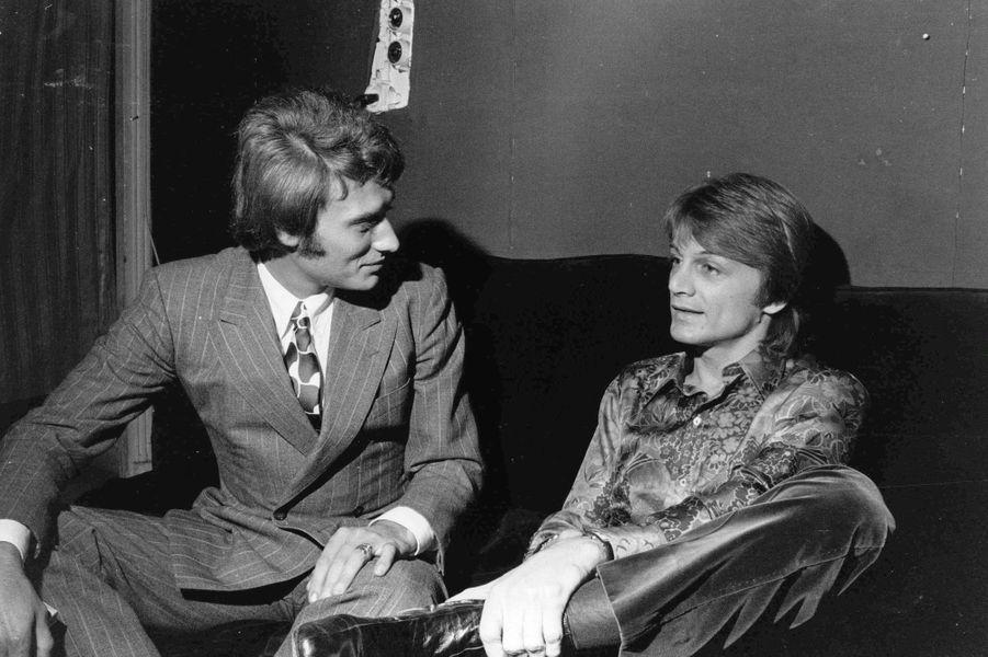 Claude François et Johnny Hallyday en 1969