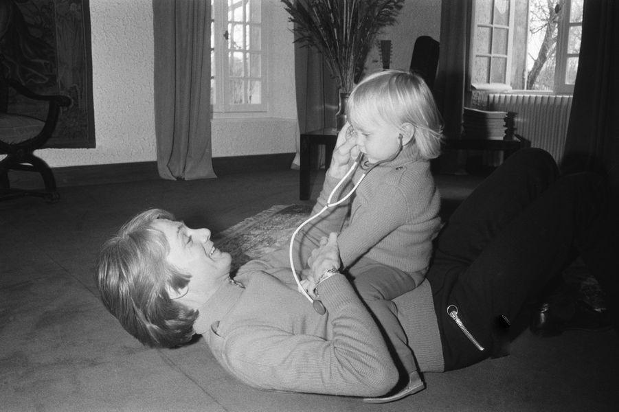Claude François et son fils en 1970