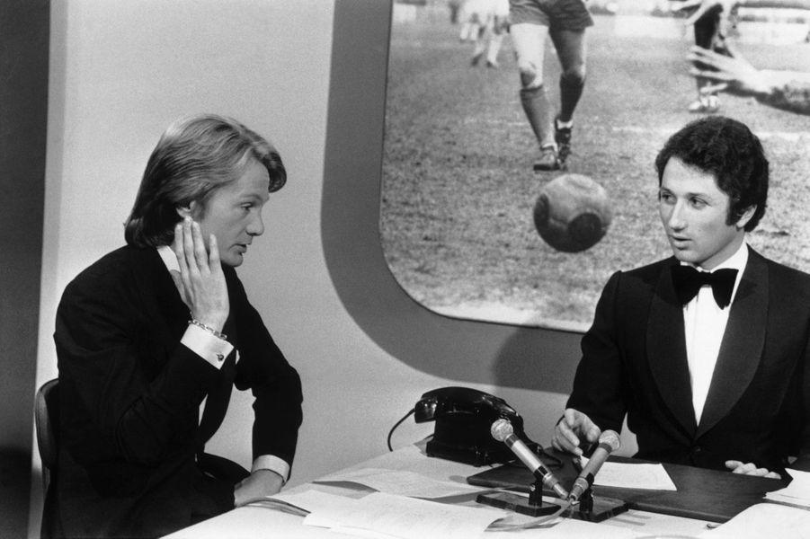 Claude François et Michel Drucker en 1972