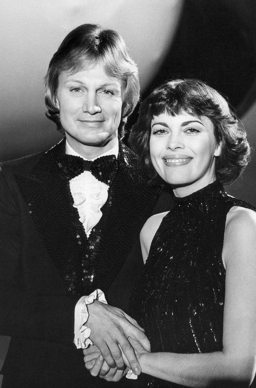 Claude François et Mireille Mathieu en 1977