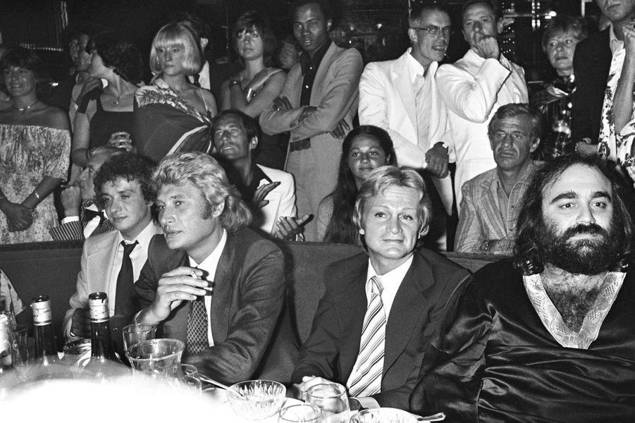 Claude François, Johnny Hallyday et Michel Sardou en 1970