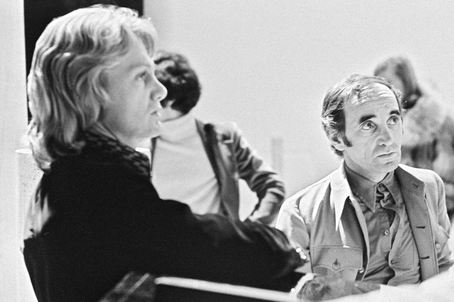 Claude François et Charles Aznavour