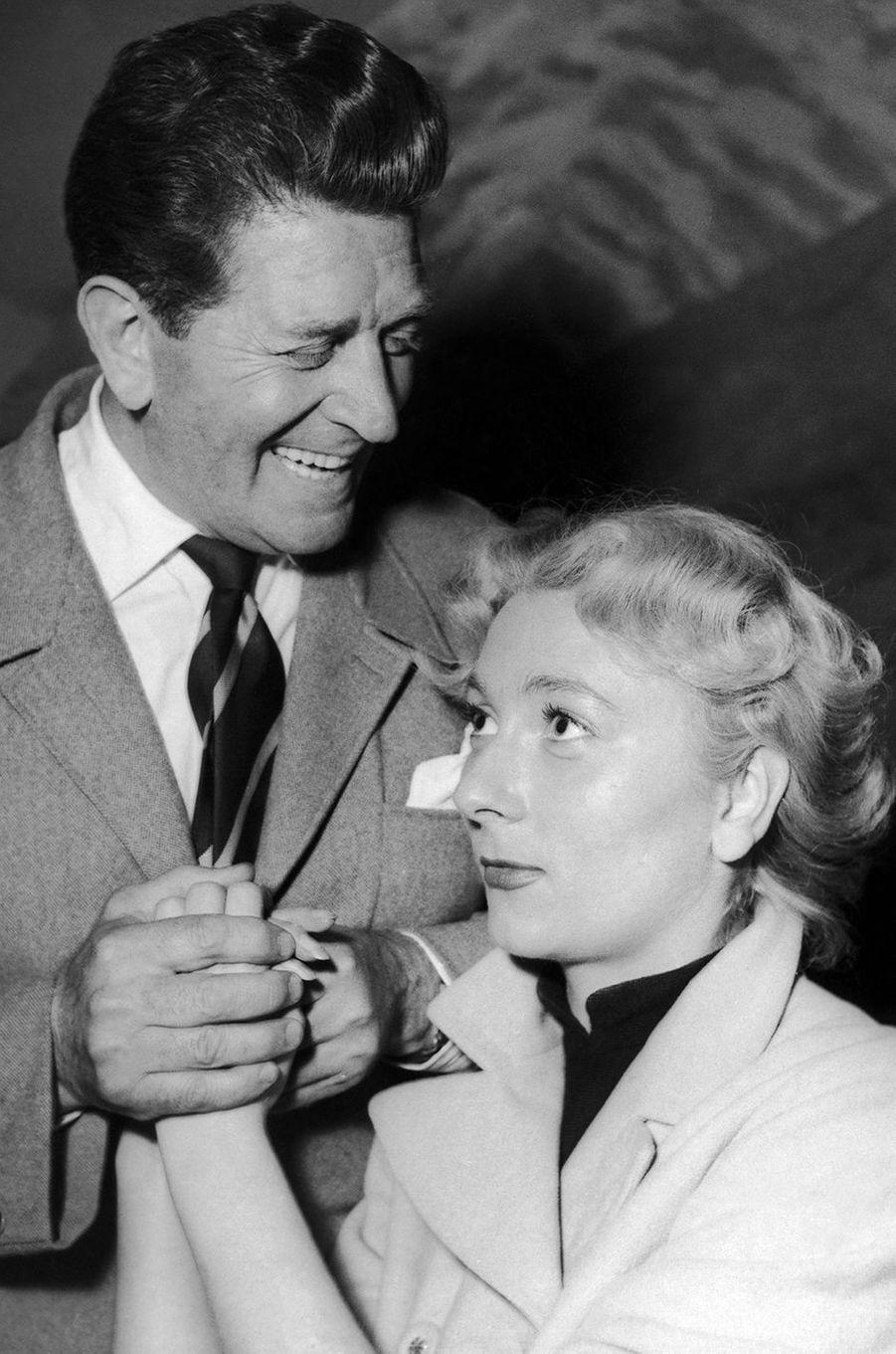 Albert Prejean et Claude Gensac, 1952.