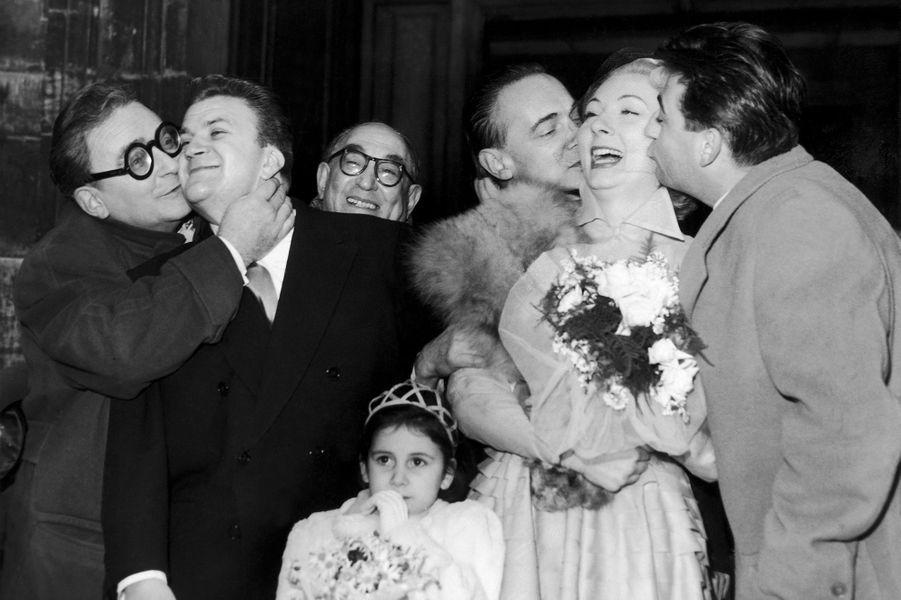 Mariage de Claude Gensac et Pierre Mondy, octobre 1951.
