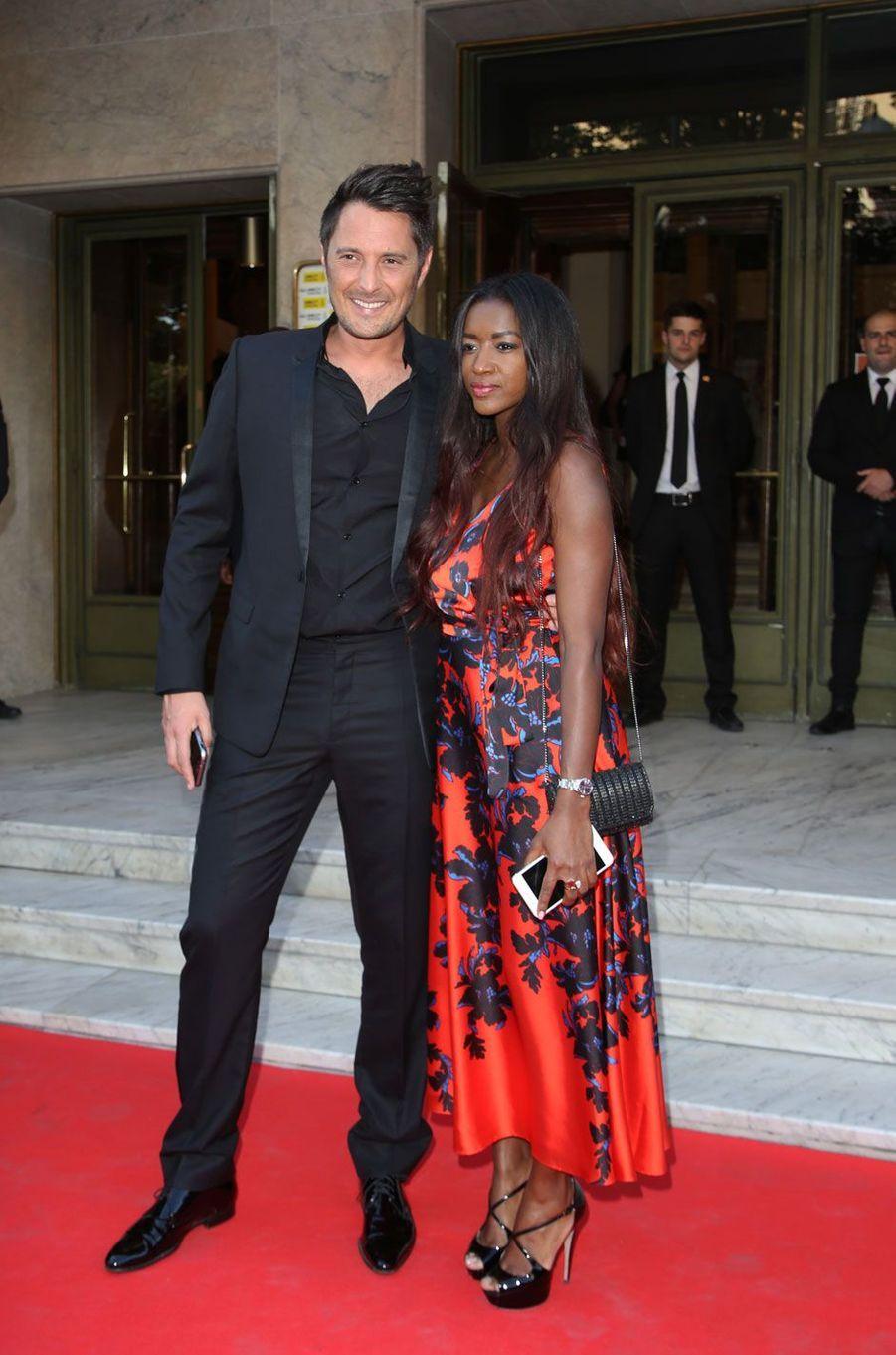 Vincent Cerruti et sa compagne Hapsatou Sy
