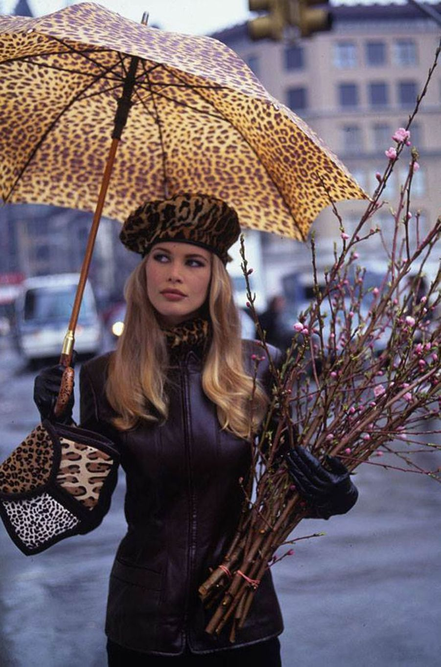 Claudia Schiffer lors d'un shooting pour «Vogue» en 1992