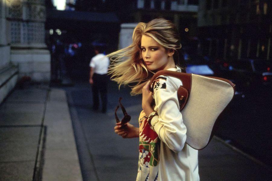 Claudia Schiffer lors d'un shooting pour «Vogue» en 1990