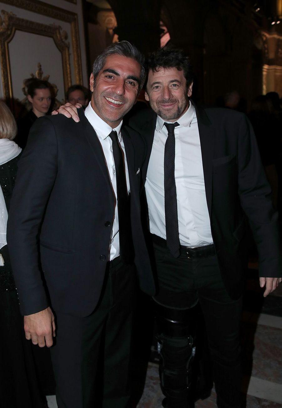 Ary Abittan et Patrick Bruelau galade la charte de Paris contre le cancer au château de Versailles le 3 février 2020.