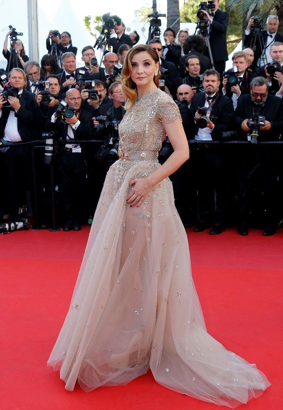 Clotilde Courau le 17 mai 2017 au Festival de Cannes.
