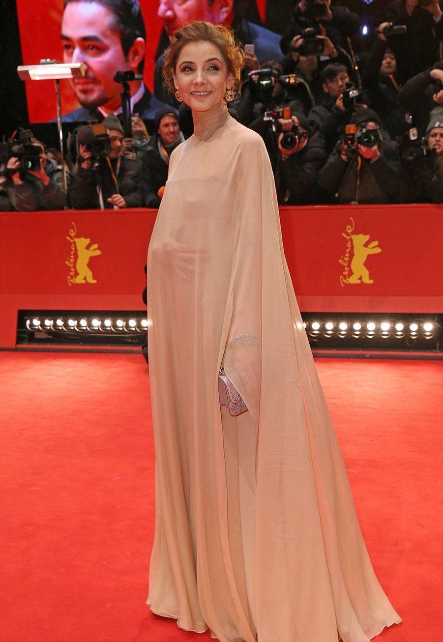 Clotilde Courau à la Berlinale, un festival de cinéma compétitif ,à Berlin le 18 février 2017.