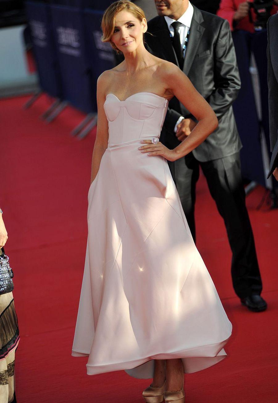 Clotilde Courau au Festival de Deauville le 1er septembre 2012