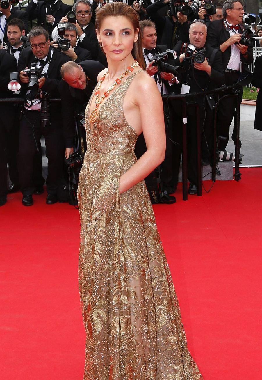 Clotilde Courau au Festival de Cannes le 21 mai 2014.
