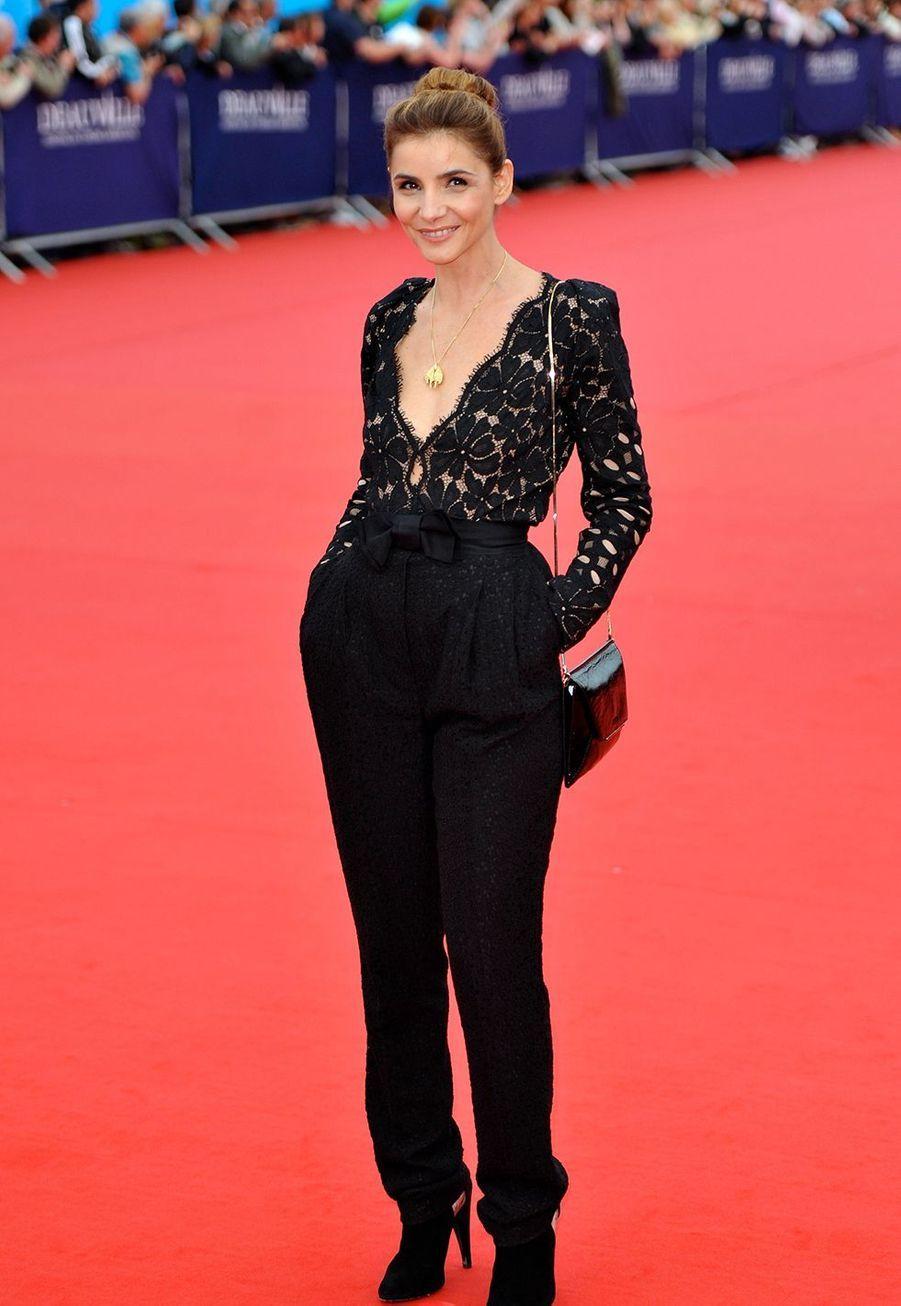Clotilde Courau à la cérémonie d'ouverture du 40ème Festival du film américain de Deauville le 5 septembre 2015.