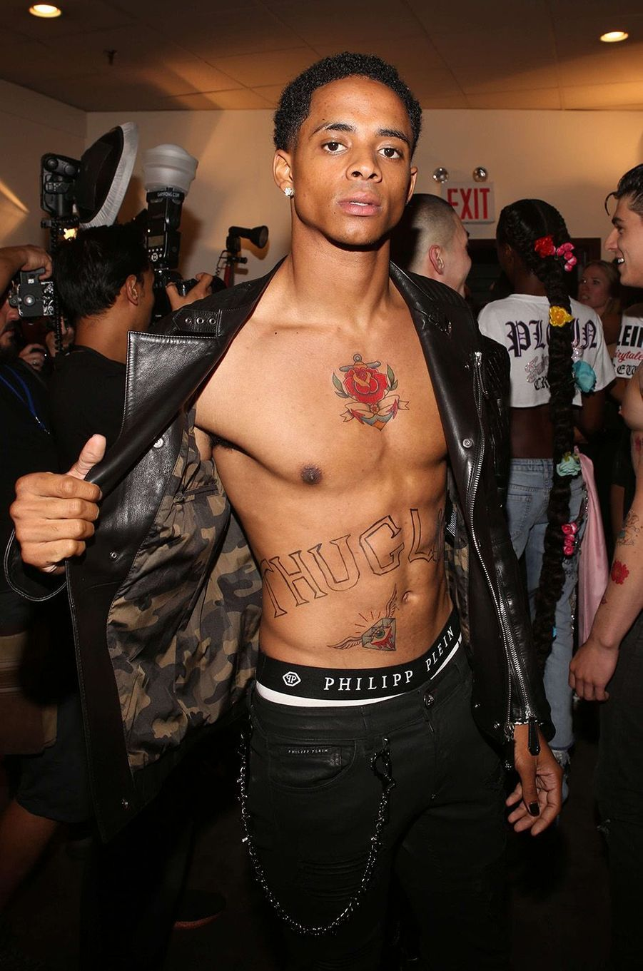 Cordell Broadus lors de la Fashion Week de New York.