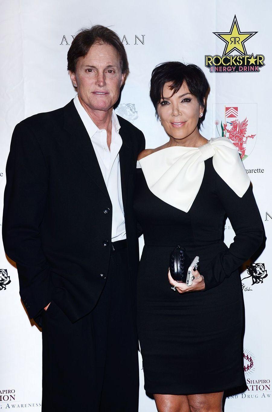 Bruce et Kris Jenner à un gala caritatif à Los Angeles en septembre 2012