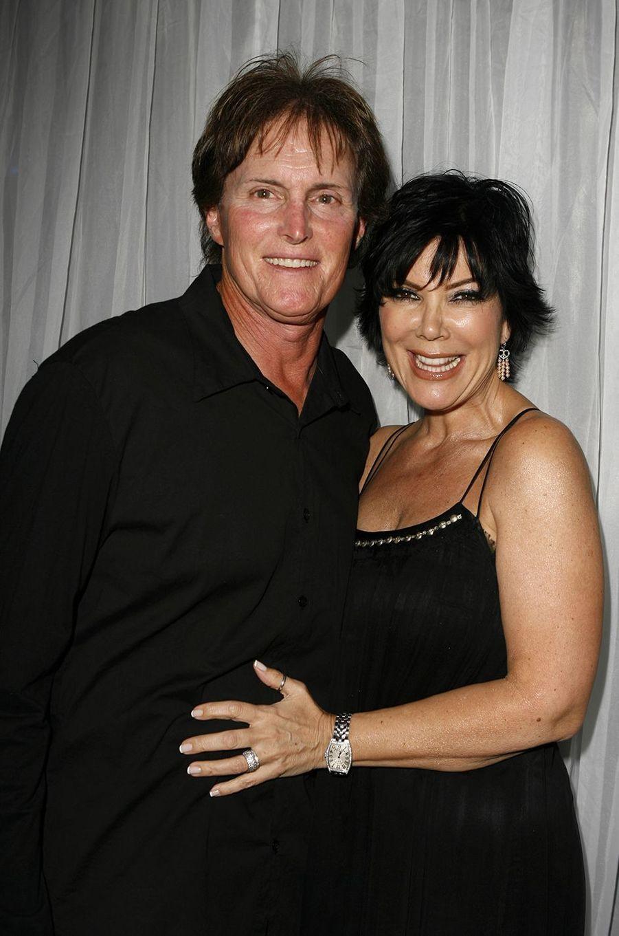 Bruce et Kris Jenner lors d'une présentation pour la marque Dash à Los Angeles en mars 2007