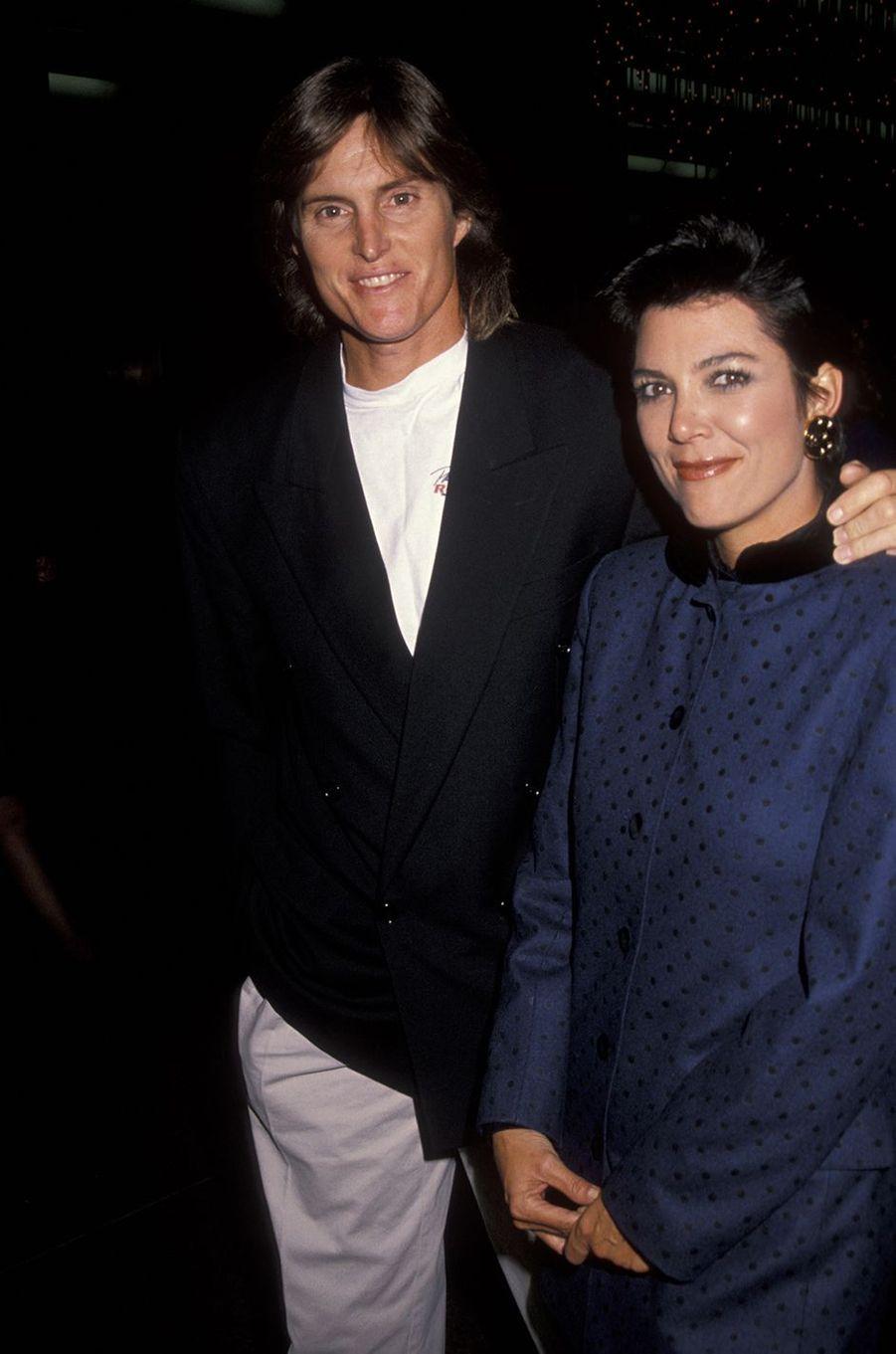 Bruce et Kris Jenner à la première du film «Mr and Mrs Bridge» à Los Angeles en novembre 1990