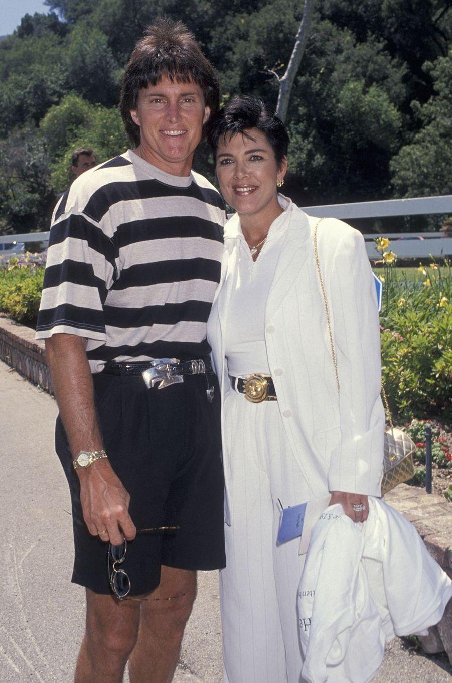 Bruce et Kris Jenner à un événement caritatif à Los Angeles en juin 1994