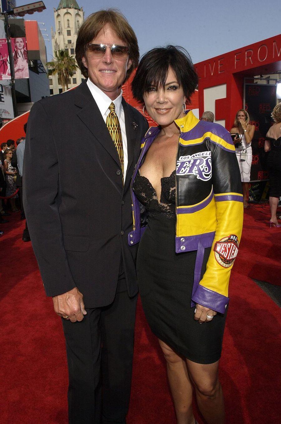 Bruce et Kris Jenner aux EPSY Awards à Los Angeles en juillet 2002
