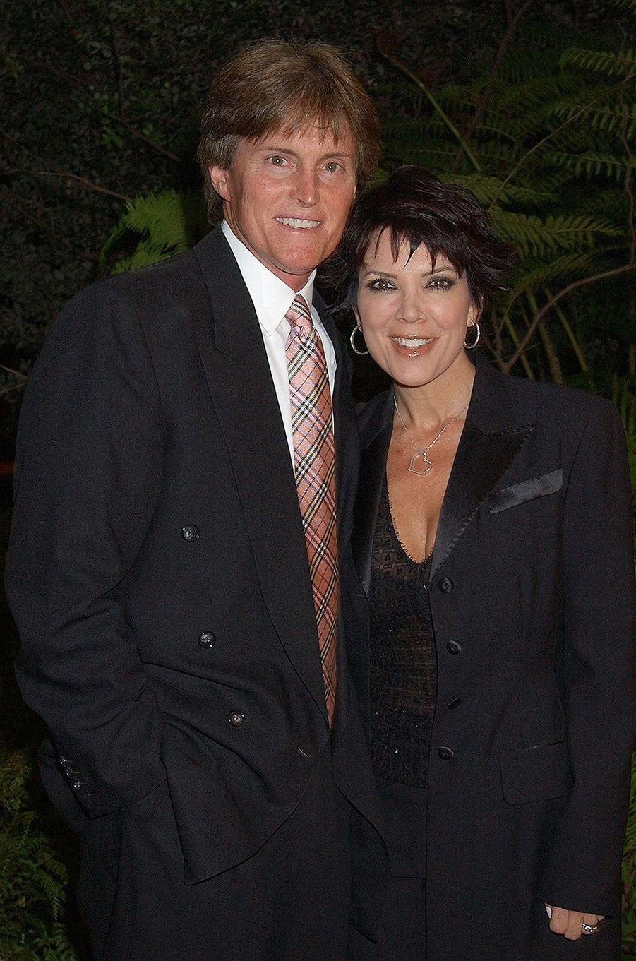 Bruce et Kris Jenner lors d'une soirée à Bel Air en mars 2003
