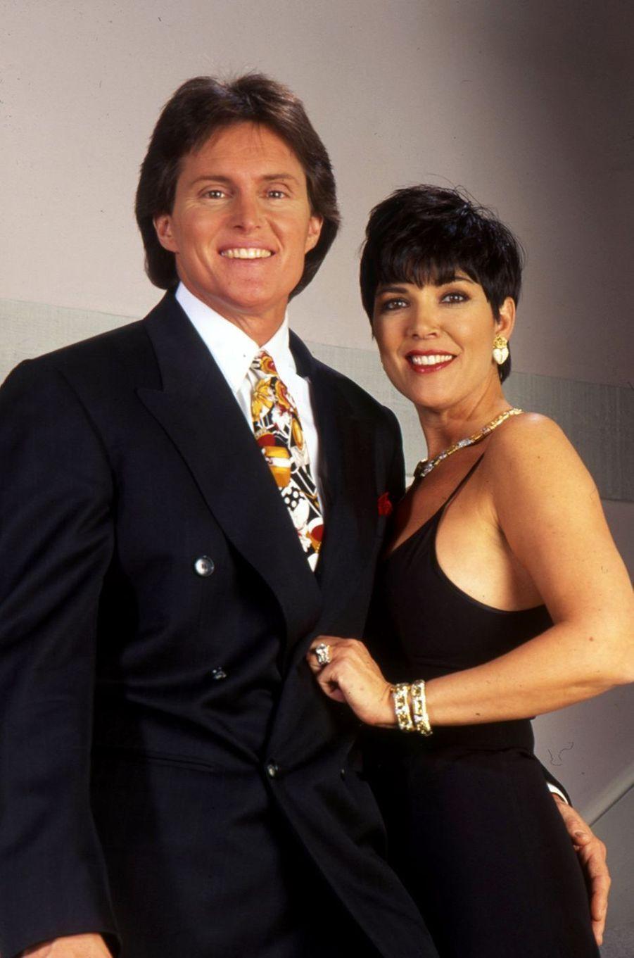 Bruce et Kris Jenner posent pour un portrait en 1991