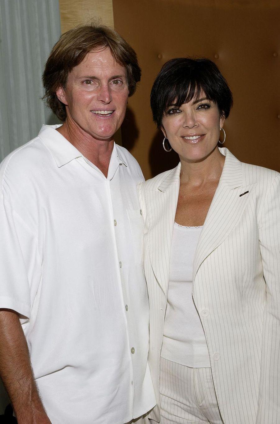 Bruce et Kris Jenner lors d'un événement organisé en marge des EPSY Awards à Los Angeles en juillet 2002
