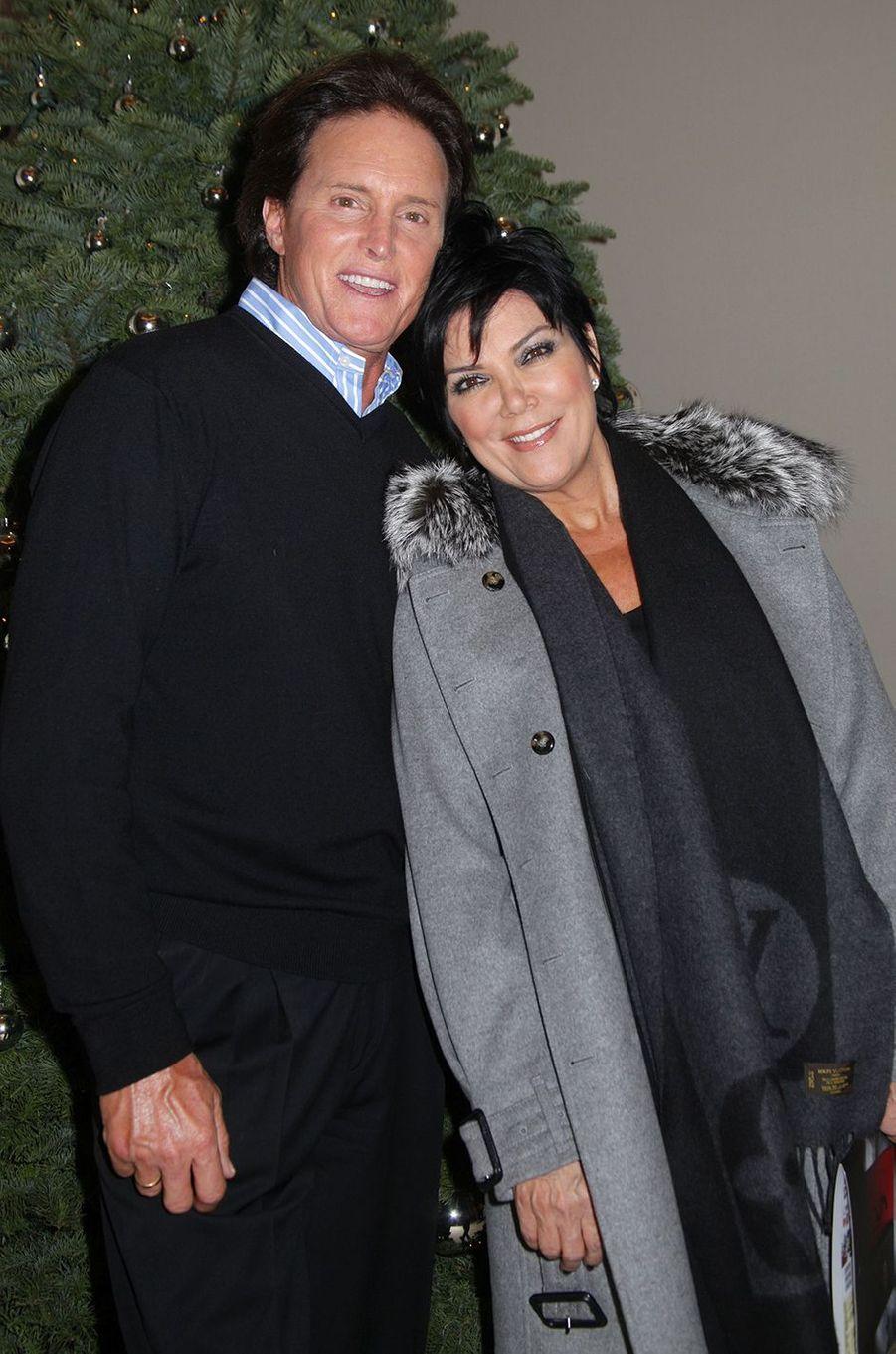 Bruce et Kris Jenner lors d'une soirée à Los Angeles en décembre 2009