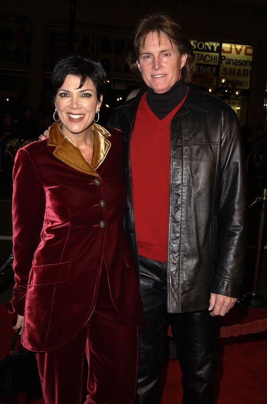 Kris et Bruce Jenner à l'avant-première du film «Ali» à Hollywood en décembre 2001