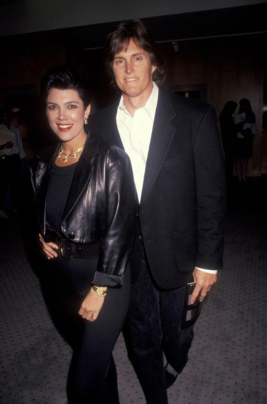Kris et Bruce Jenner à la première du film «Pour que l'on n'oublie jamais» à Beverly Hills en avril 1991