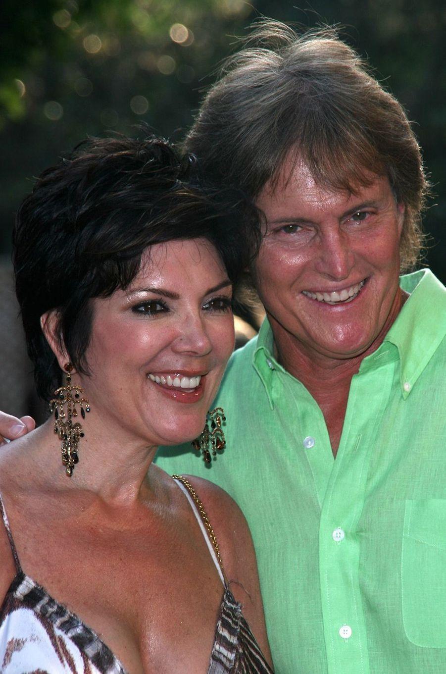 Kris et Bruce Jenner lors d'un gala à Los Angeles en juillet 2005