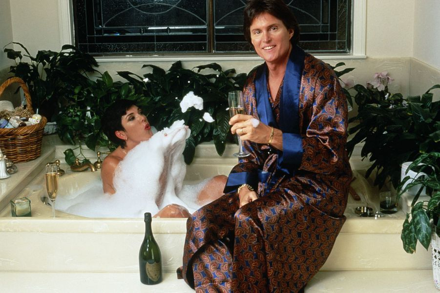 Kris et Bruce Jennerlors d'un shooting à Los Angeles en 1991