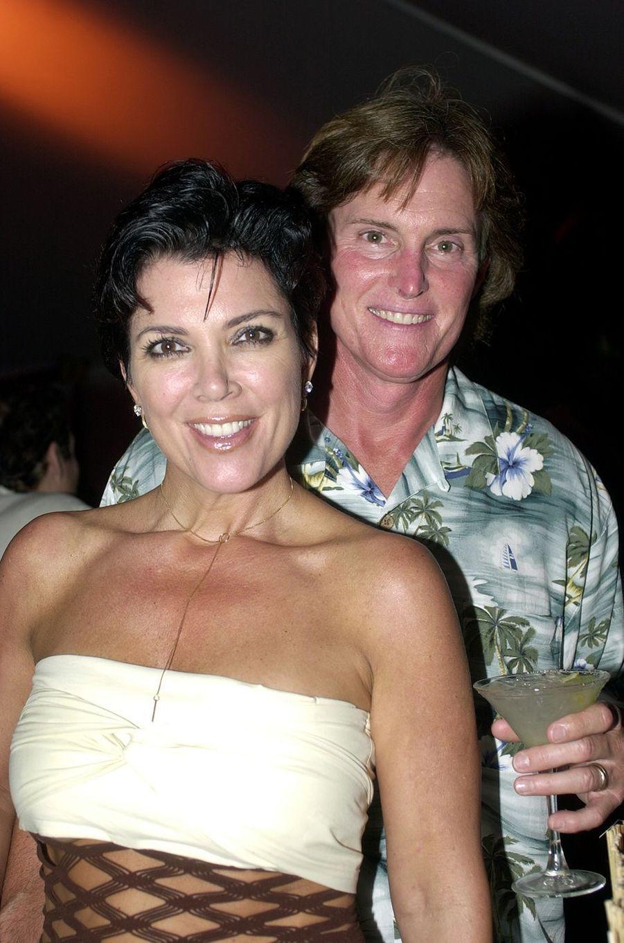 Kris et Bruce Jenner lors d'une soirée à Long Island en 2001