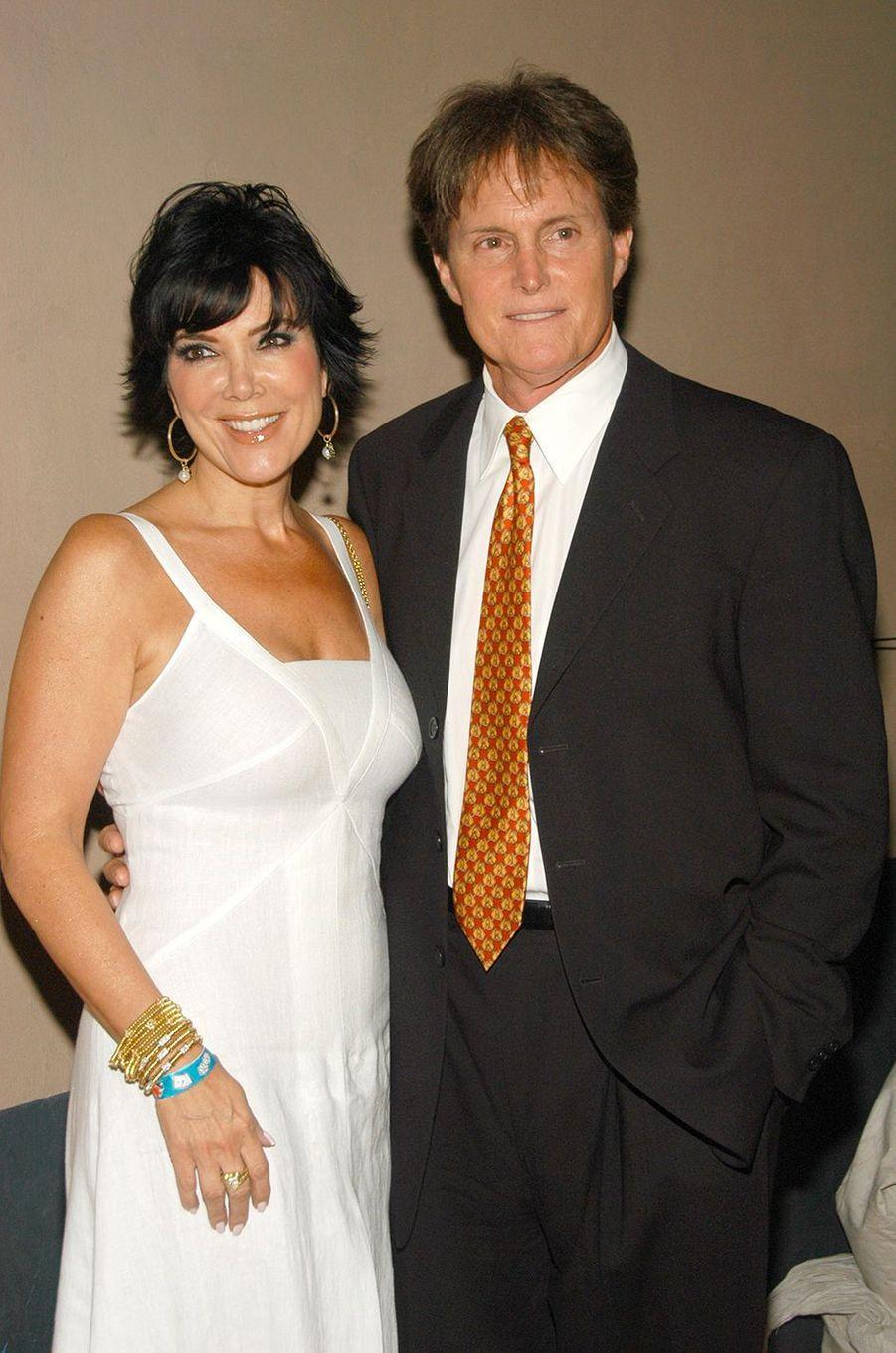 Kris et Bruce Jenner lors d'un soirée à Los Angeles en mai 2002