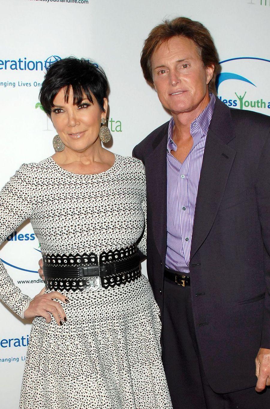 Kris et Bruce Jenner lors d'une soirée à Beverly Hills en novembre 2010