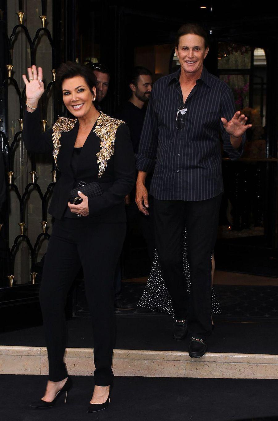 Kris et Bruce Jenner à Paris en mai 2014