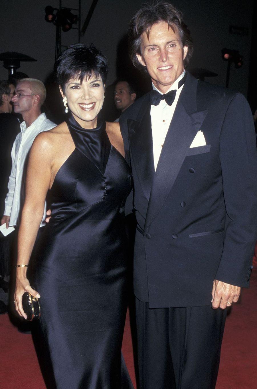 Kris et Bruce Jenner à une soirée de récompenses à Los Angeles en janvier 1996