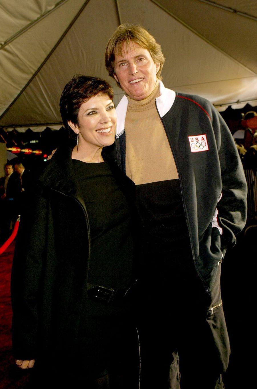 Kris et Bruce Jenner à l'avant-première du film «Miracle» à Los Angeles en février 2004