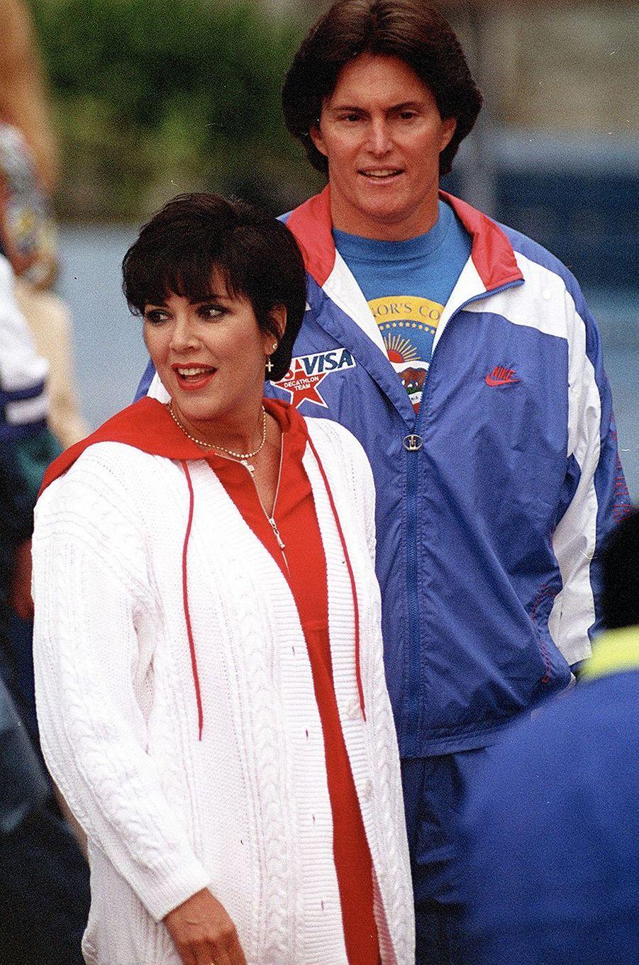 Kris et Bruce Jenner en 1990