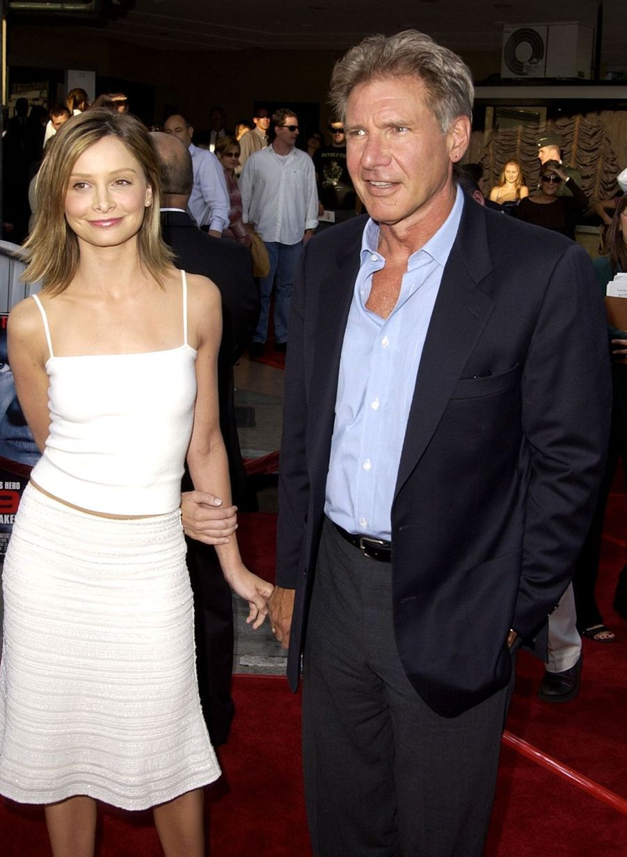Calista Flockhart et Harrison Ford en 2002