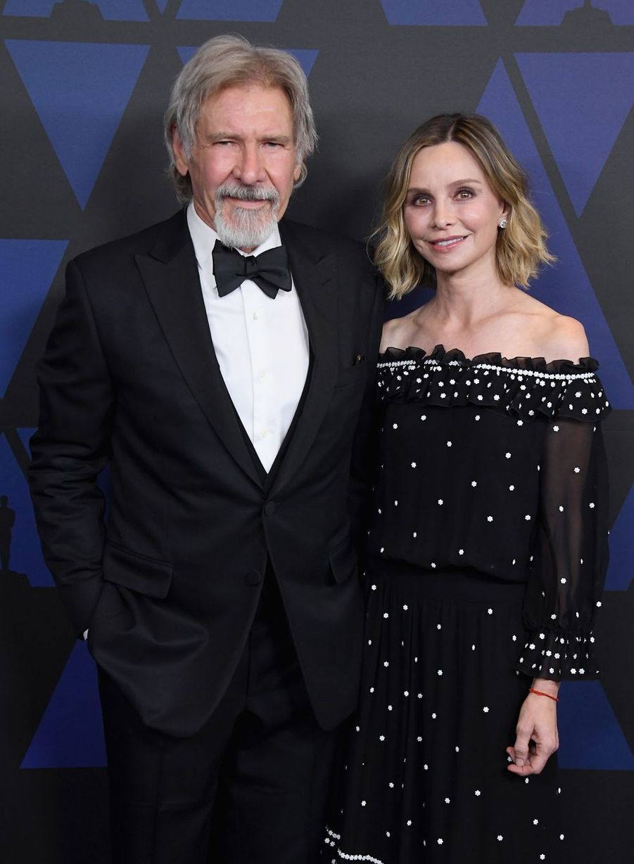 Calista Flockhart et Harrison Ford en 2018