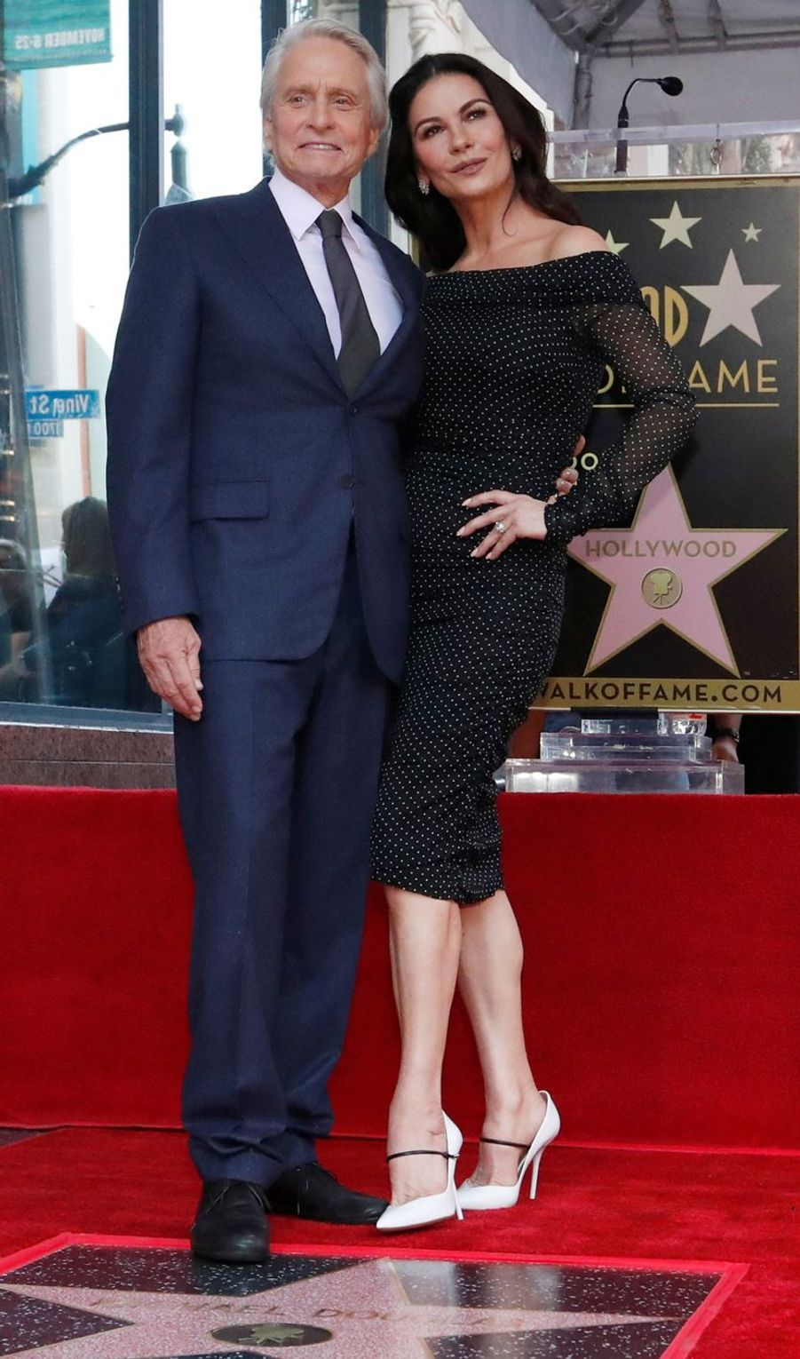 Catherine Zeta-Jones et Michael Douglas en 2018