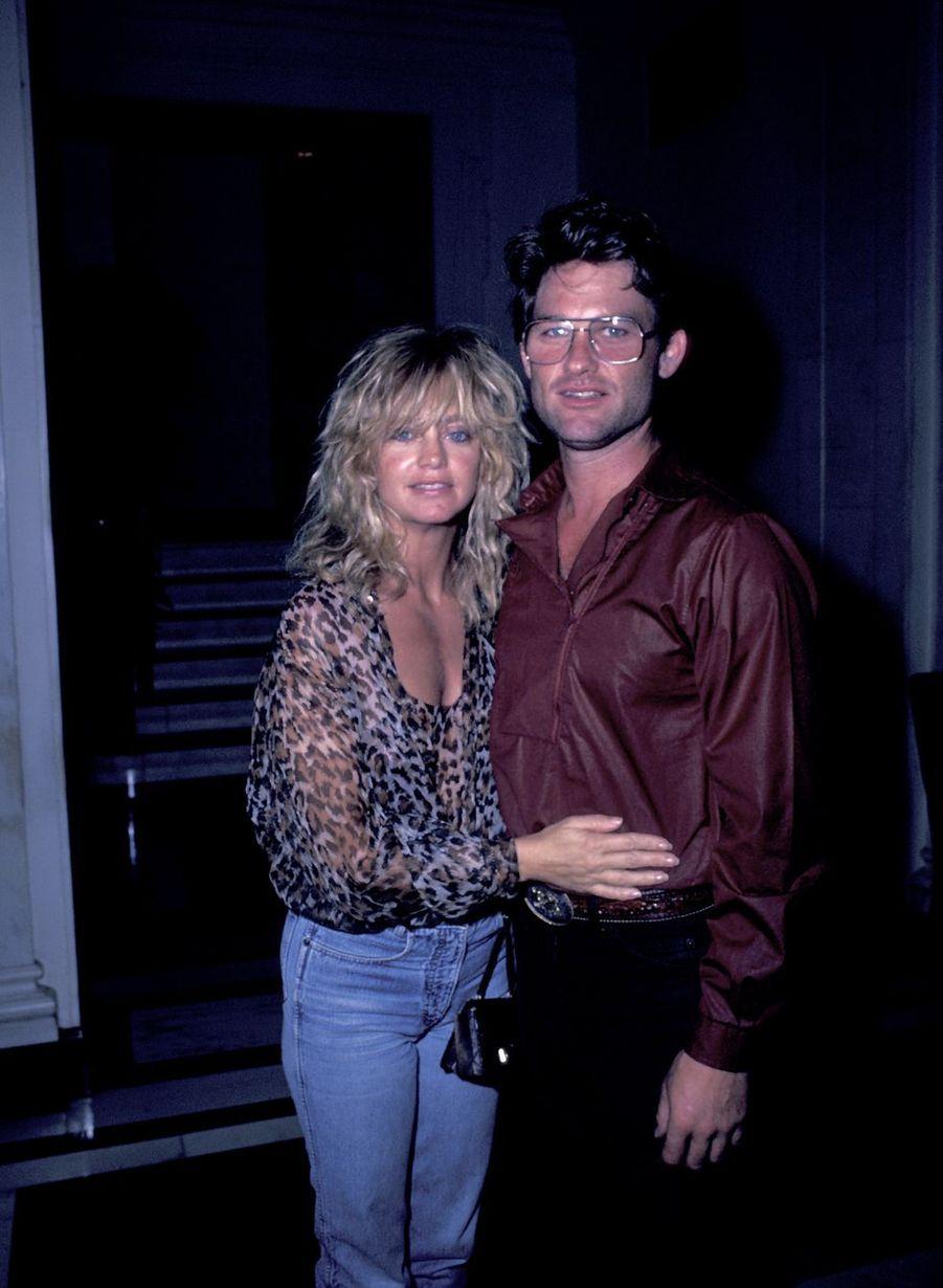 Goldie Hawn et Kurt Russell en 1983