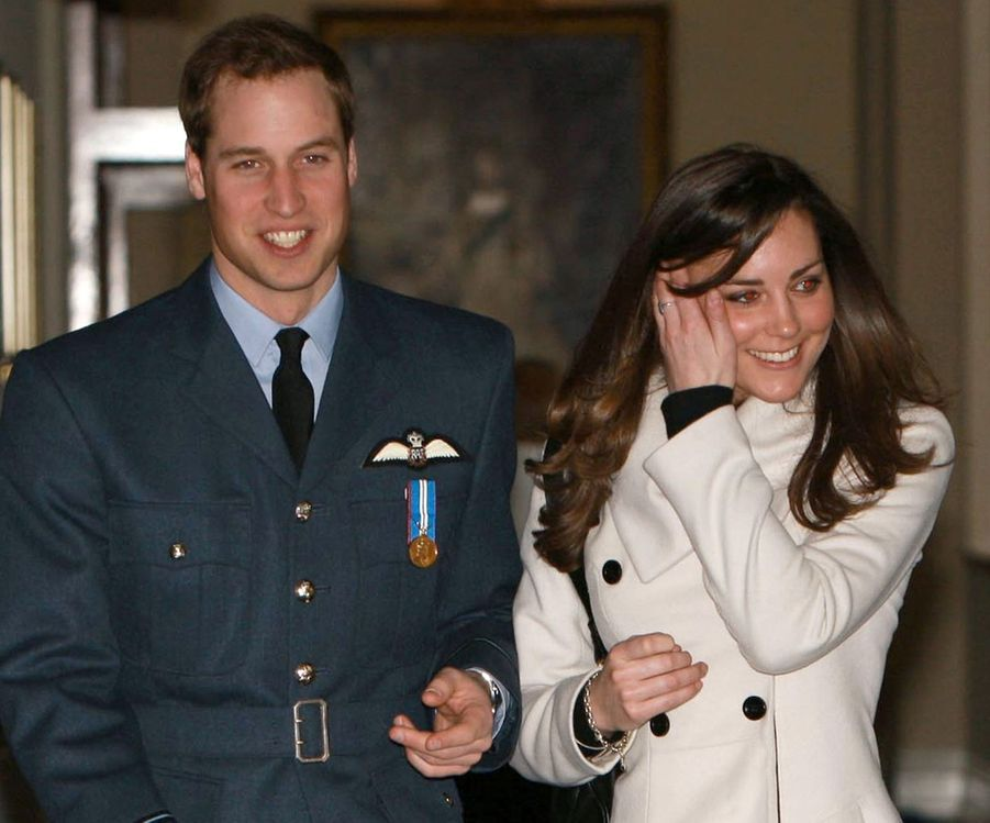 Le prince William et Kate Middleton en 2008
